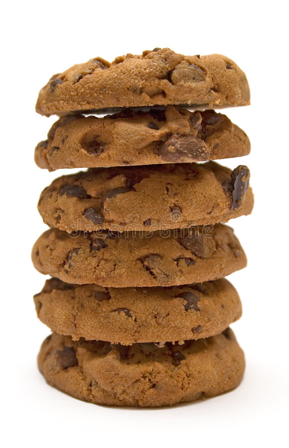 Download стог печений шоколада обломока Стоковое Изображение - изображение насчитывающей испеченных, обломок: 487473