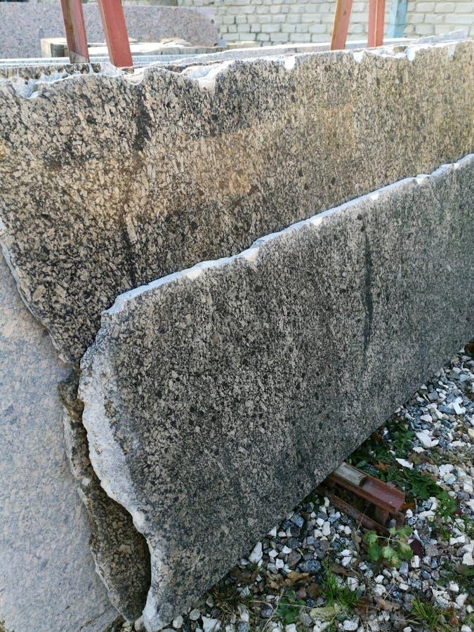 стог плиты гранита - предпосылки мраморного песчаника фабрики индустрии ровного поверхностного серой стоковое изображение rf