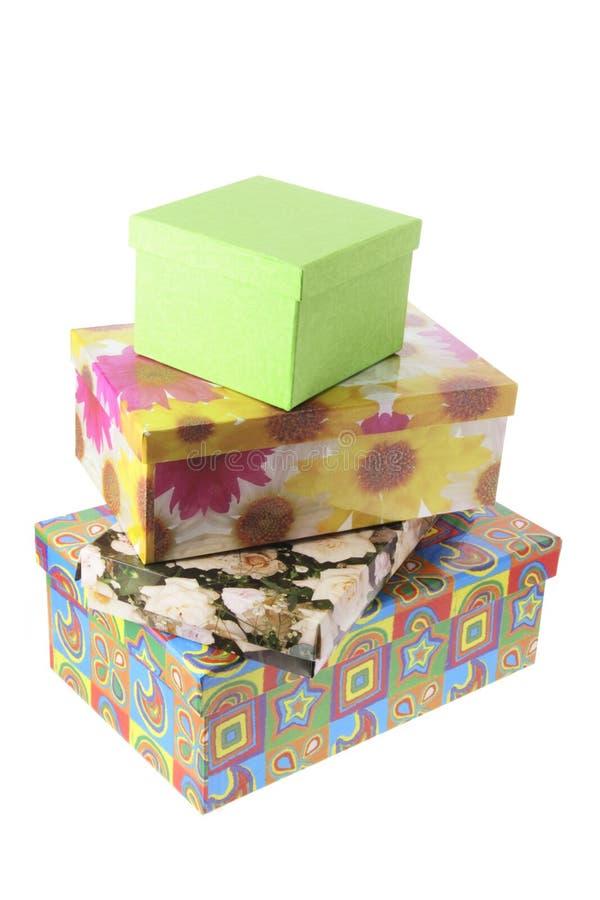 стог подарка коробок стоковые фотографии rf