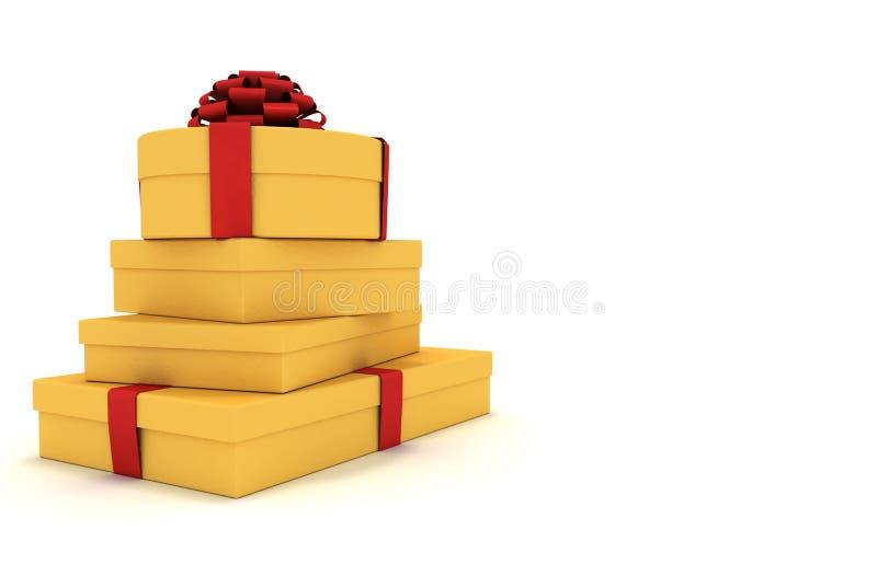 стог подарков бесплатная иллюстрация