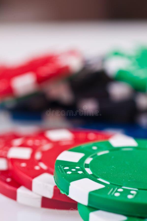 стог покера обломоков стоковое фото