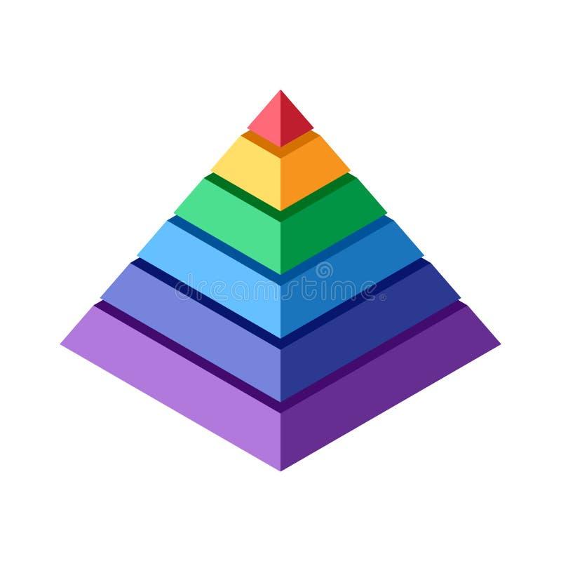 Стог равновеликих блоков который делает пирамиду иллюстрация вектора