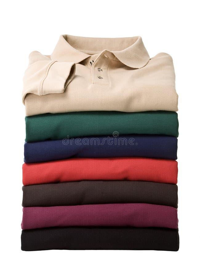 стог рубашек поло longsleeve стоковая фотография rf