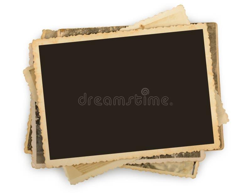 Стог старых изолированных фото стоковые изображения rf