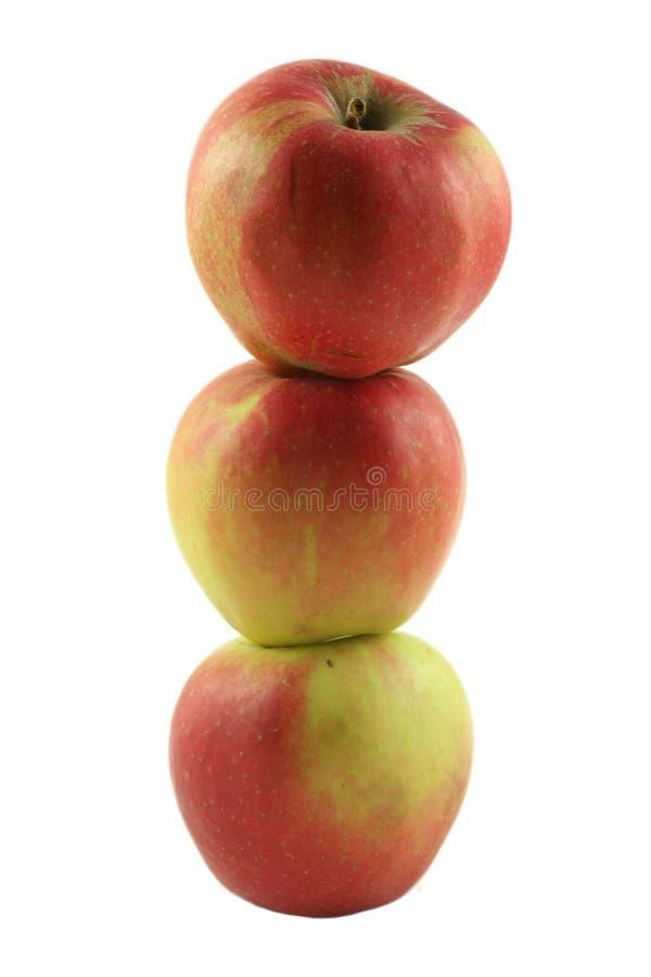 стог яблока стоковое изображение rf