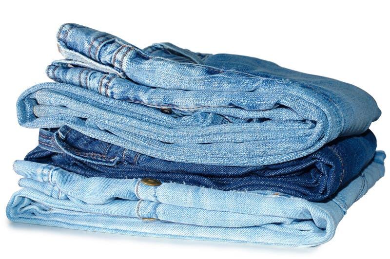 стог outerwear голубых джинсов стоковые фотографии rf