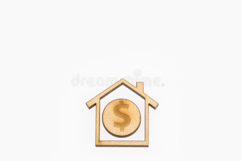 Стоимость имущества - концепция Взгляд сверху стоковая фотография rf