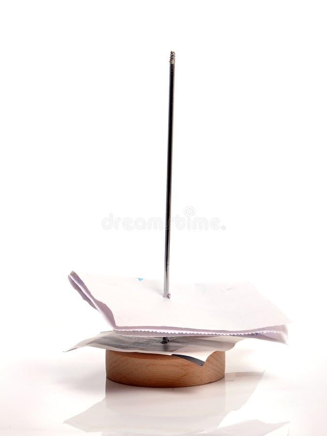стойка бумаги счета стоковые изображения rf