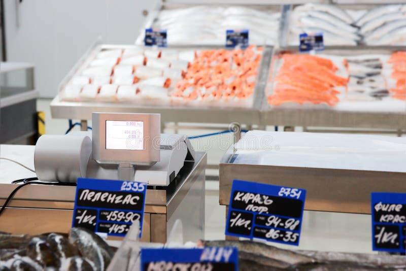 стойл рыбного базара сырцовый стоковые фото