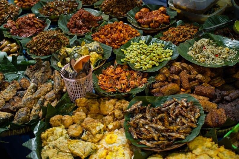 Стойл 1 еды улицы, блок m, Джакарта стоковая фотография rf