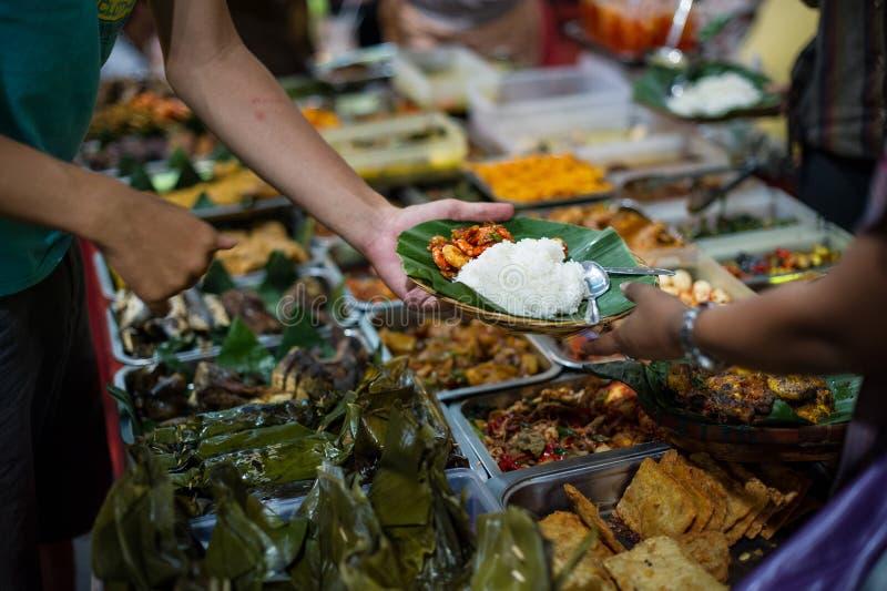Стойл 4 еды улицы, блок m, Джакарта стоковые изображения
