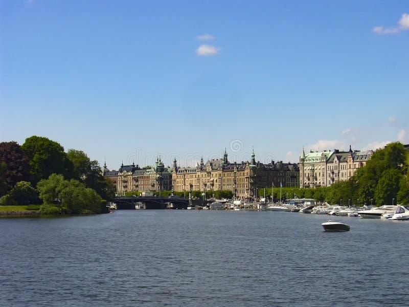 Стокгольм, столица Швеции, получать над итогом 14 островов стоковые фото
