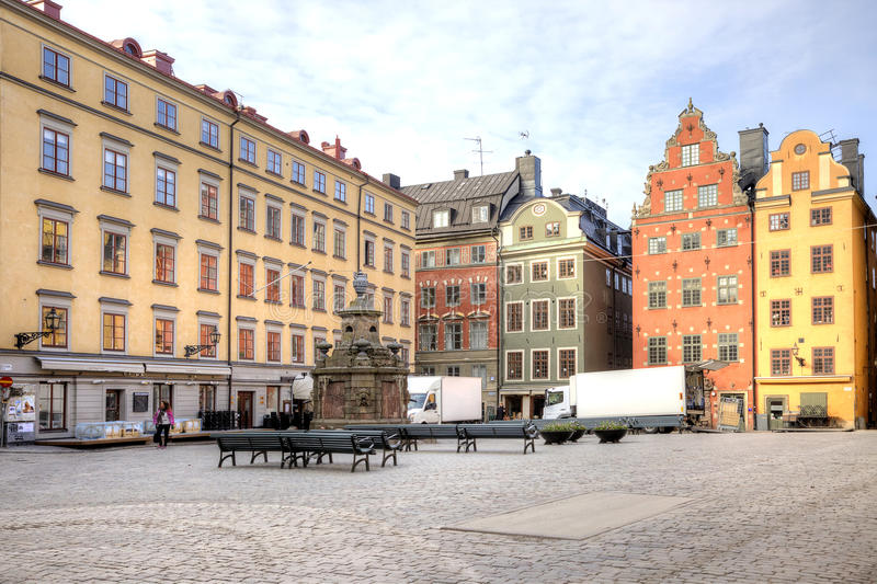Стокгольм Исторический центр города стоковые фотографии rf