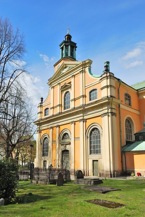 Стокгольм. Церковь Mary Magdalene стоковые фотографии rf