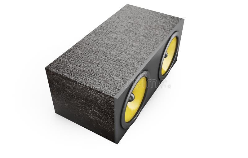 Столбец звукового ящика диктора тональнозвуковой перевод 3d иллюстрация вектора