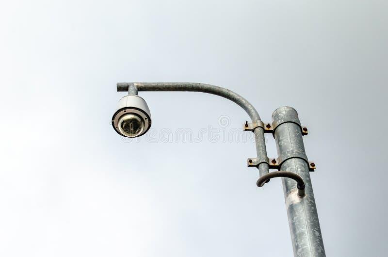 Столбец CCTV стоковое фото