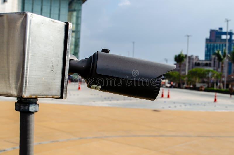 Столбец CCTV стоковое изображение