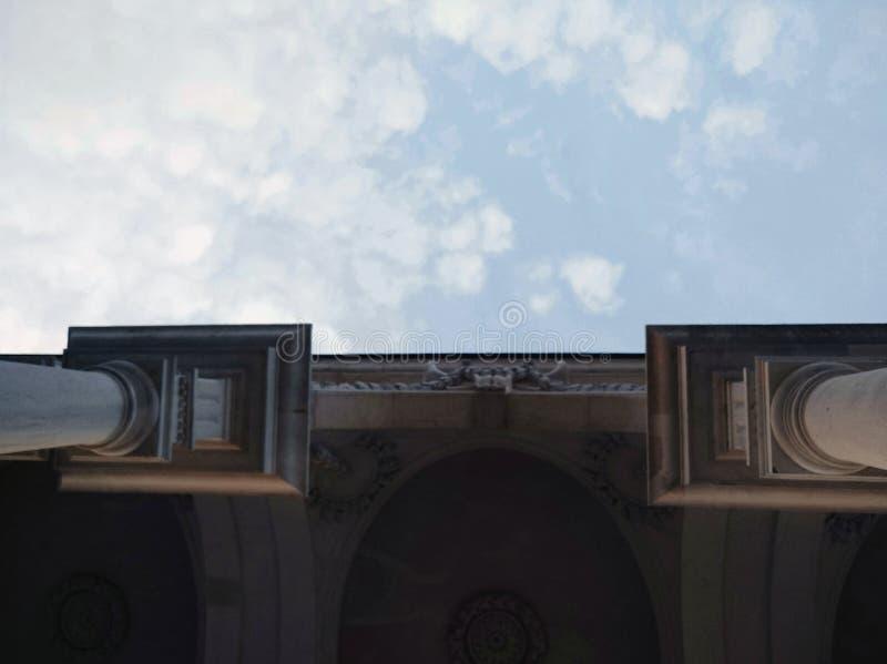 Столбцы в небе стоковая фотография