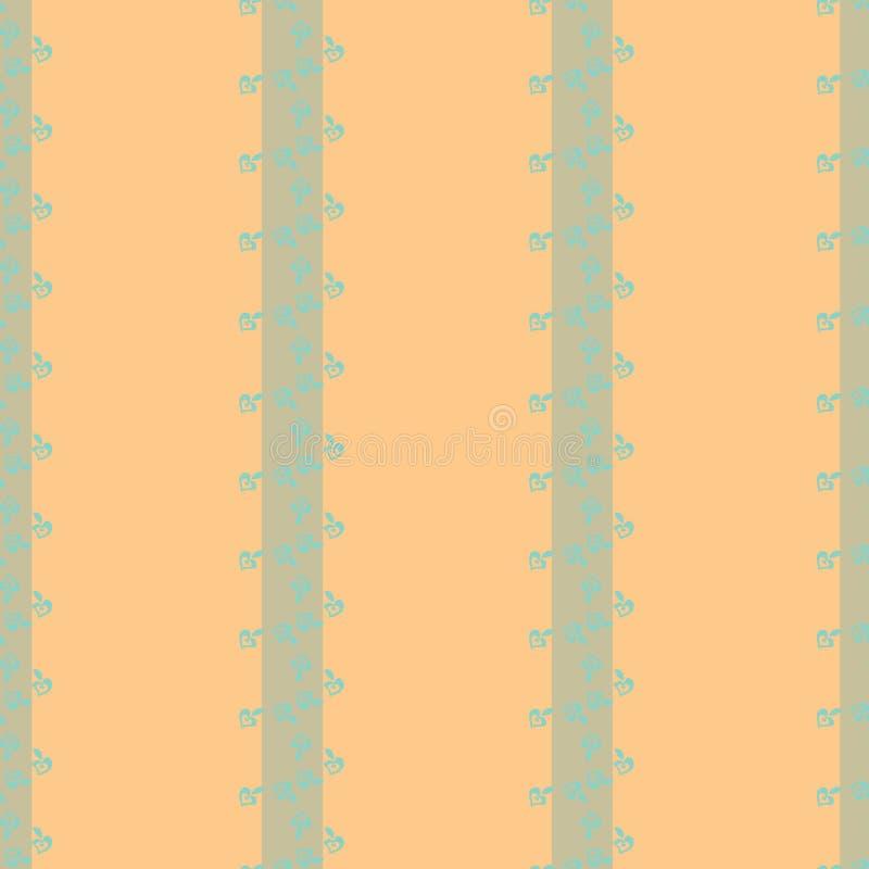 Столбцы цветков на предпосылке золота иллюстрация вектора