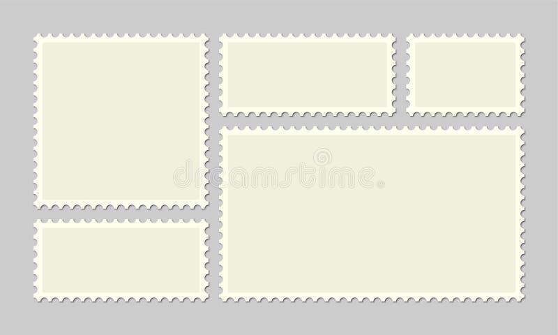 Столб или открытки вектора штемпеля почтового сбора иллюстрация вектора