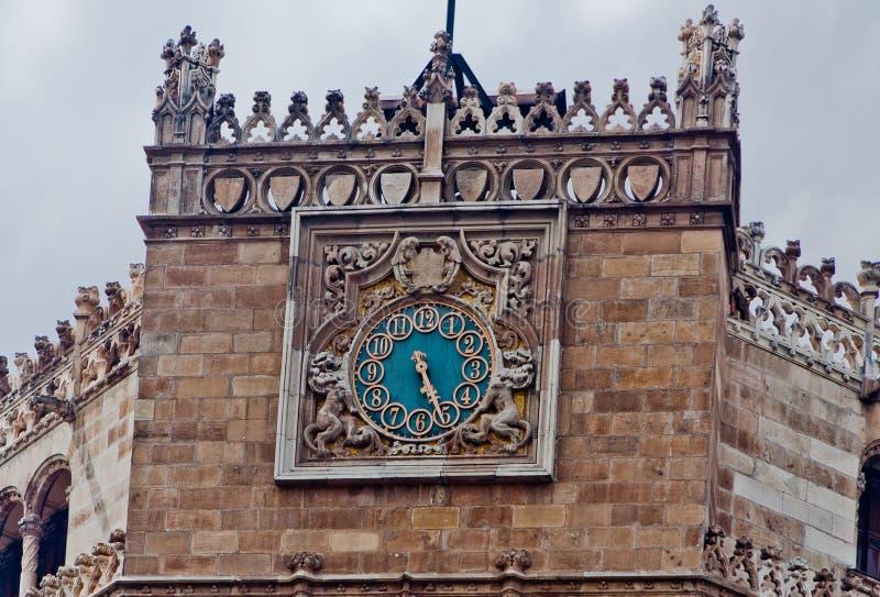 столб офиса Мексики часов города стоковая фотография
