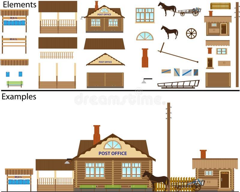 столб офиса сельский иллюстрация штока