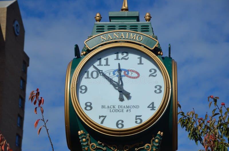 Столб часов Nanaimo стоковая фотография rf