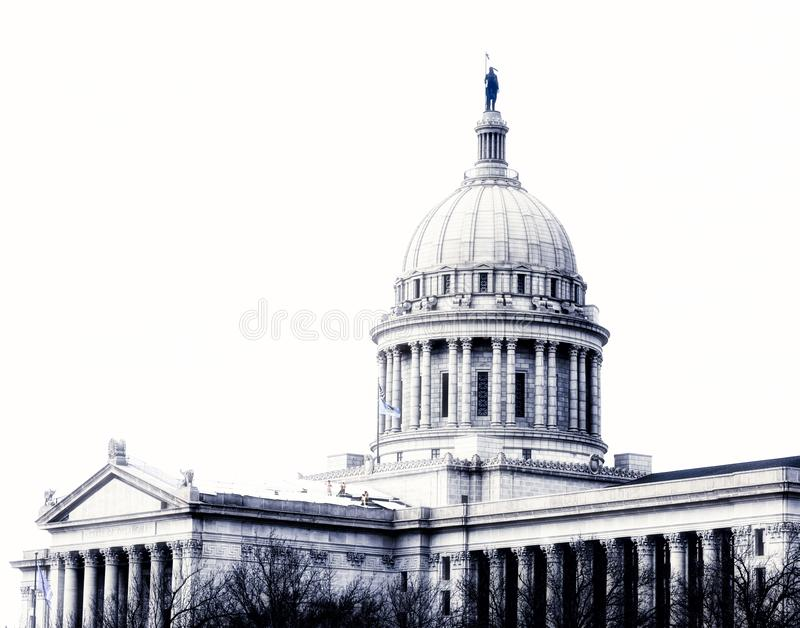 Столица государства Оклахомы, Оклахома-Сити стоковое изображение rf