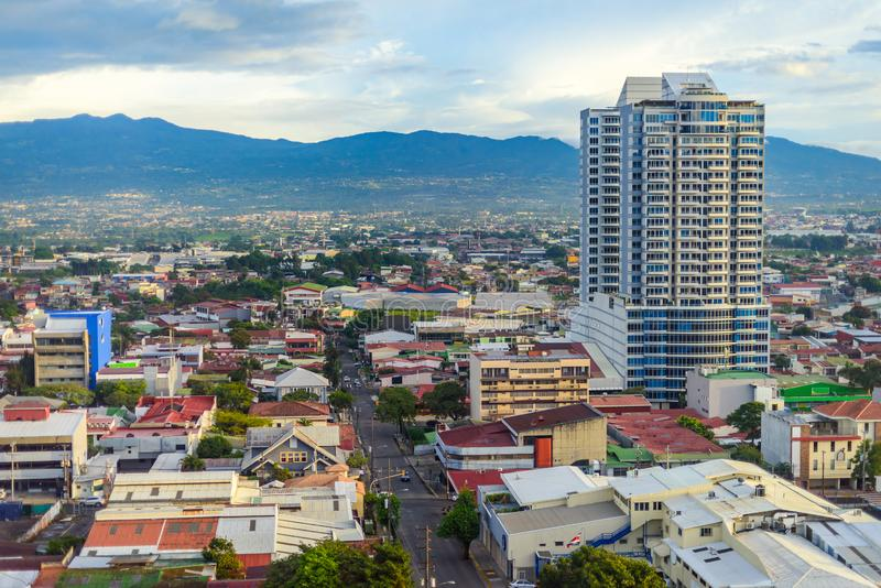 Столица Сан-Хосе Коста-Рика стоковая фотография rf