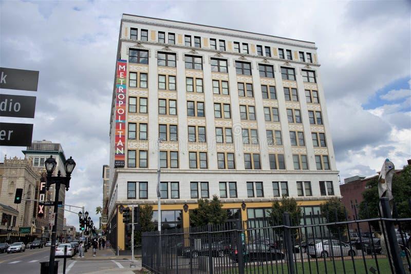 Столичный квадрат городской, Сент-Луис Миссури стоковое изображение rf
