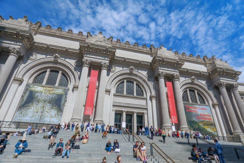Столичный музей изобразительных искусств расположенный в Нью-Йорке, самый большой музей изобразительных искусств в Соединенных Шт стоковое изображение