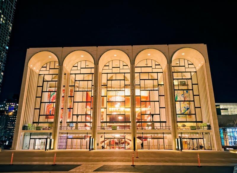 Столичный оперный театр Нью-Йорк стоковые изображения
