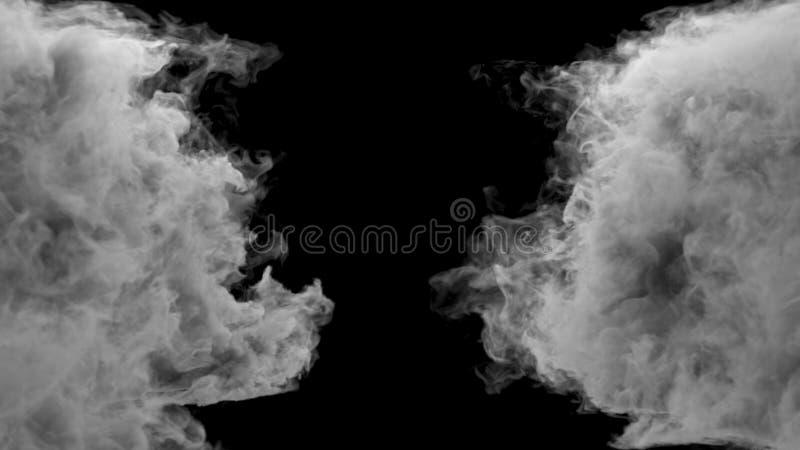 Столкновение 2 потоков дыма r иллюстрация штока