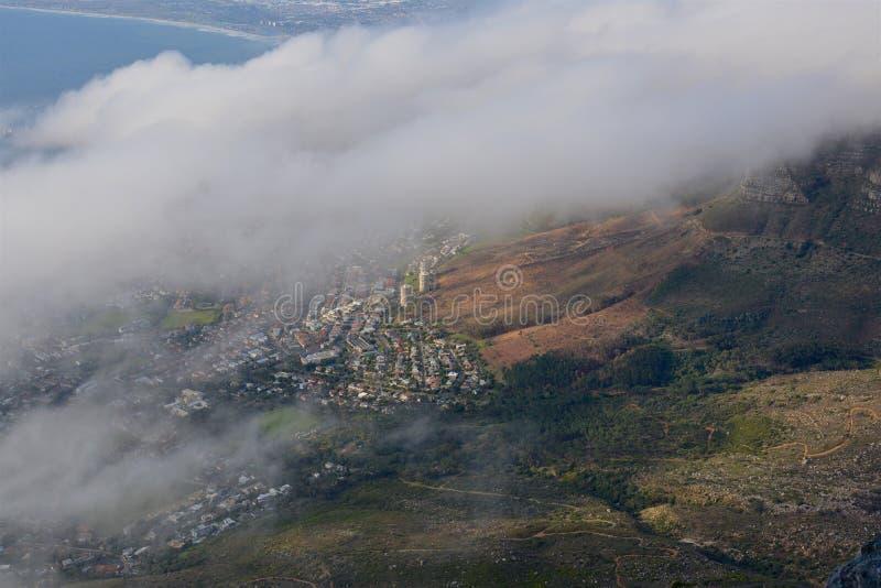Столовая гора - Кейптаун стоковое фото rf