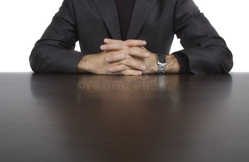 стол бизнесмена его стоковые фото