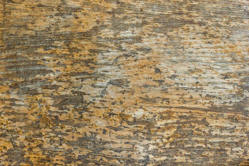 Стол Брайна старой деревянной доски панели текстуры винтажной бежевый оранжевый стоковое фото