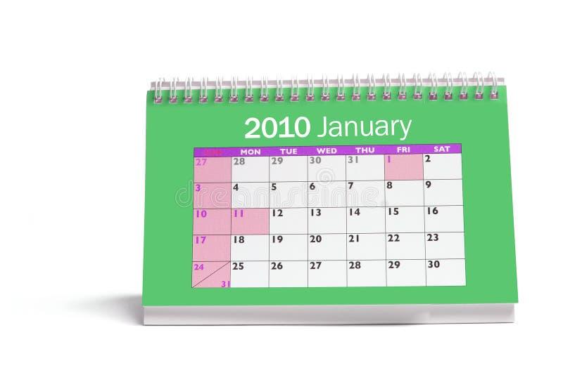 стол календара стоковое изображение