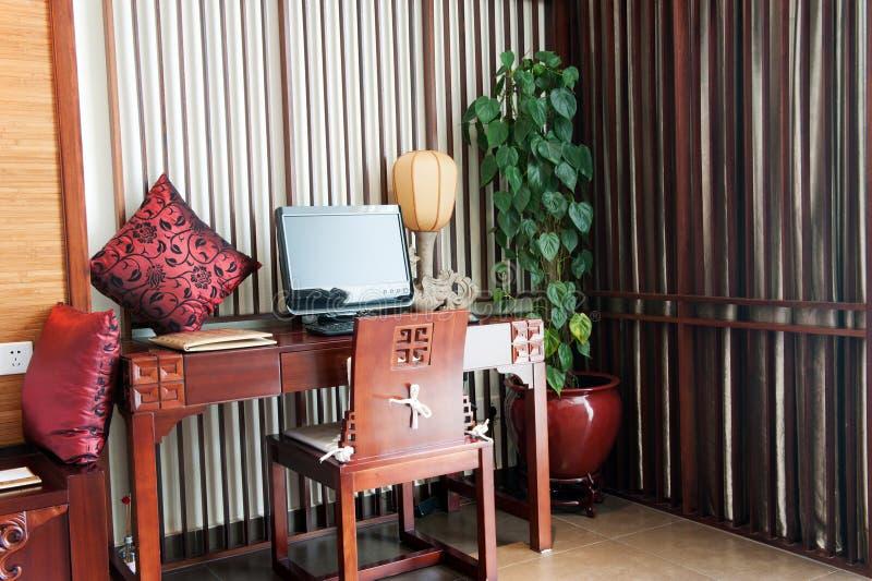 стол компьютера стоковое изображение