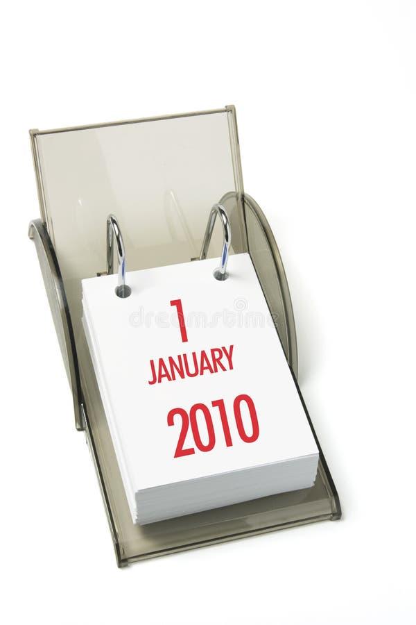 стол 2010 календаров стоковое фото rf