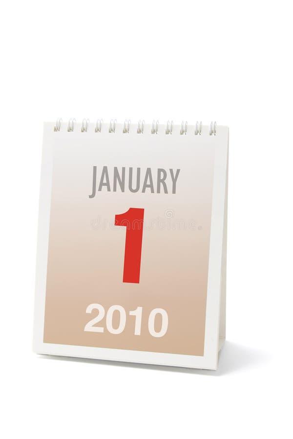 стол 2010 календаров стоковое фото