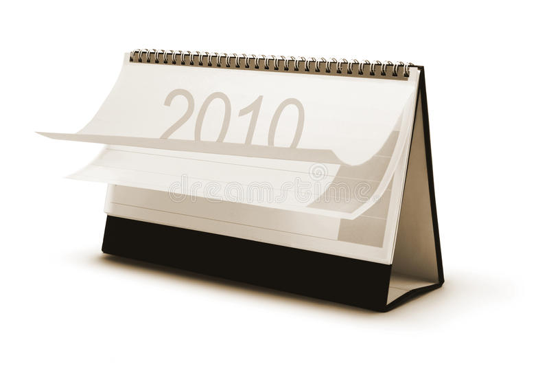 стол 2010 календаров стоковое изображение