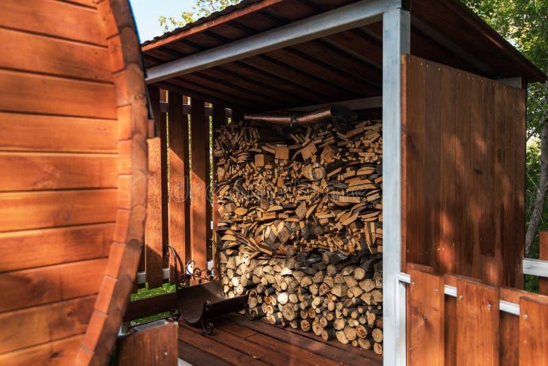 Стопки дров стоковое фото