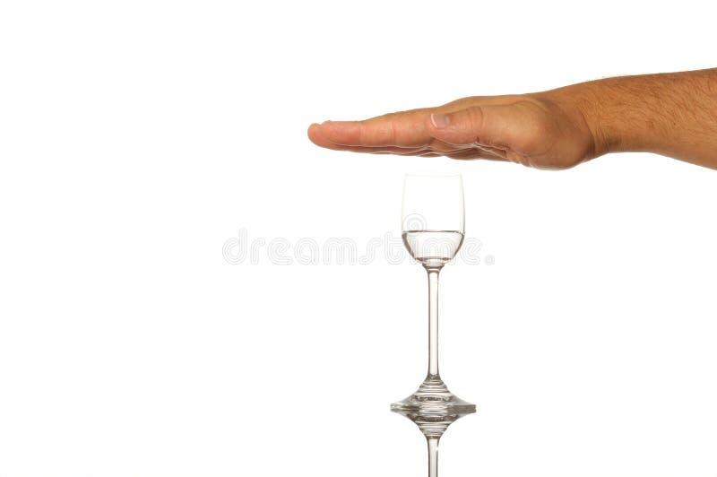 стоп принципиальной схемы пьянства стоковая фотография