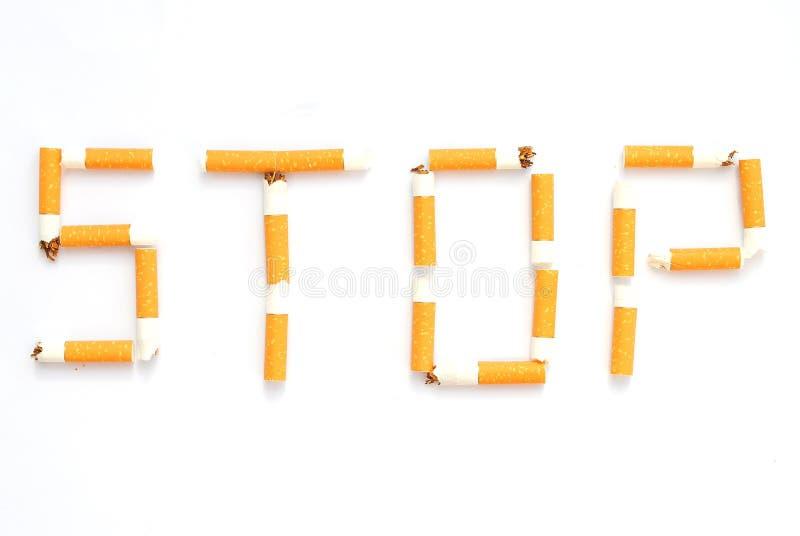стоп сигареты прикладов пишет стоковые фотографии rf