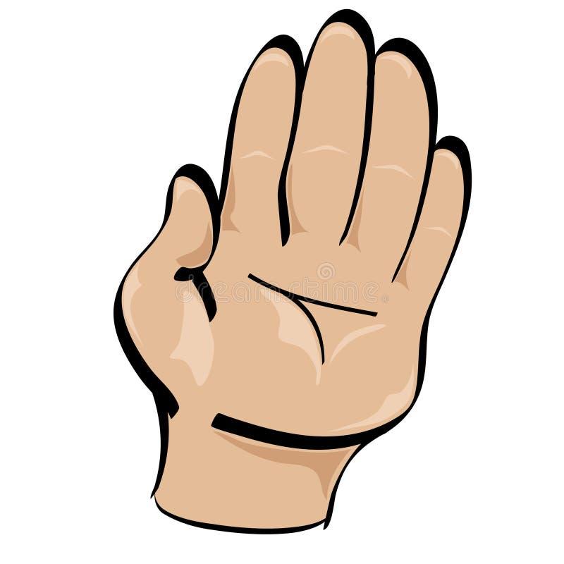 Стоп стиля шаржа руки стоковая фотография