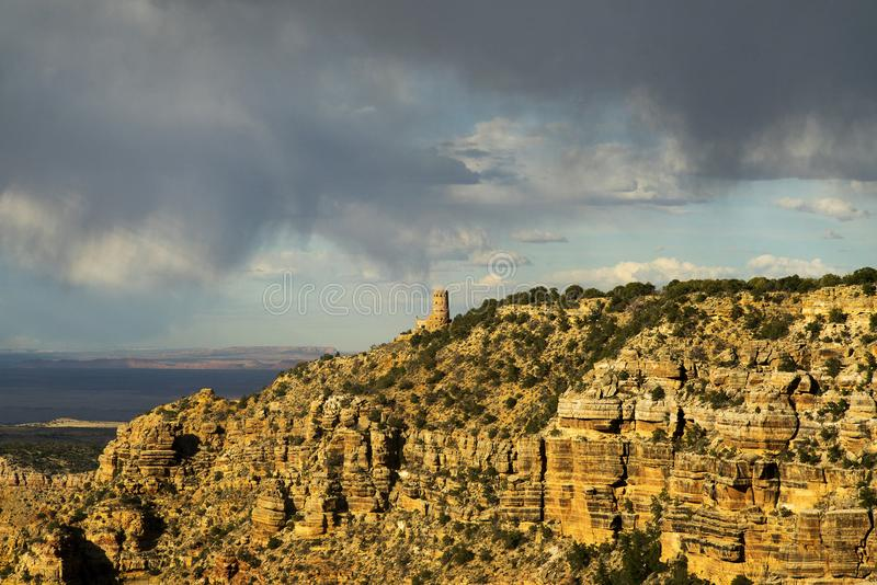 Сторожевая башня взгляда пустыни стоковое фото rf