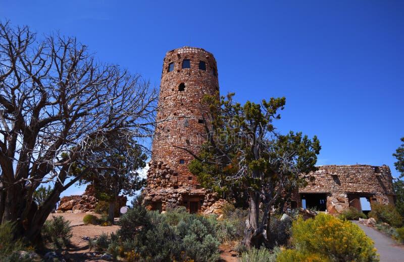 Сторожевая башня взгляда пустыни стоковое изображение rf