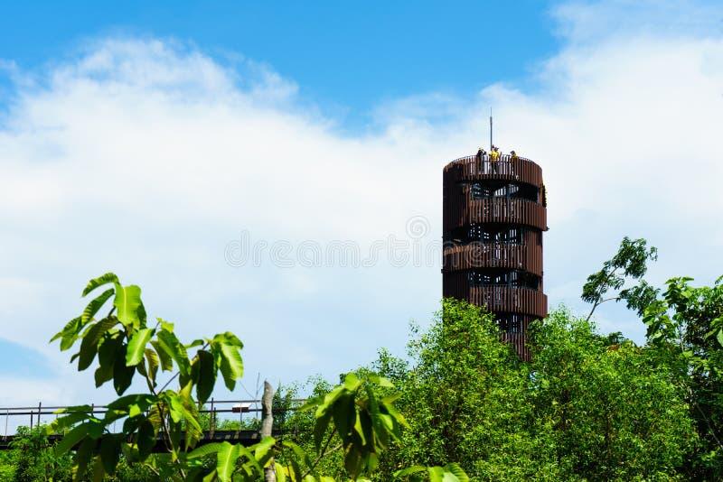 Сторожевая башня имеет для людей прийти взгляд photograp стоковое изображение rf