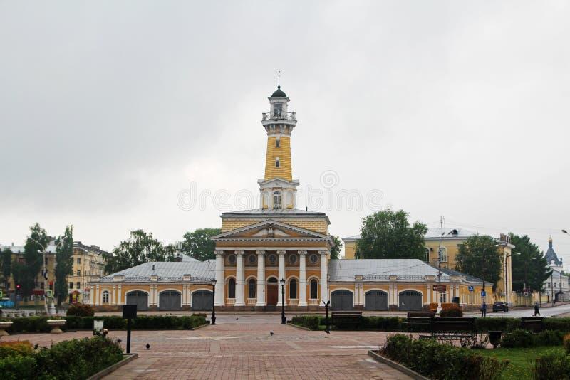 сторожевая башня Огн-замечания в Kostroma стоковые изображения