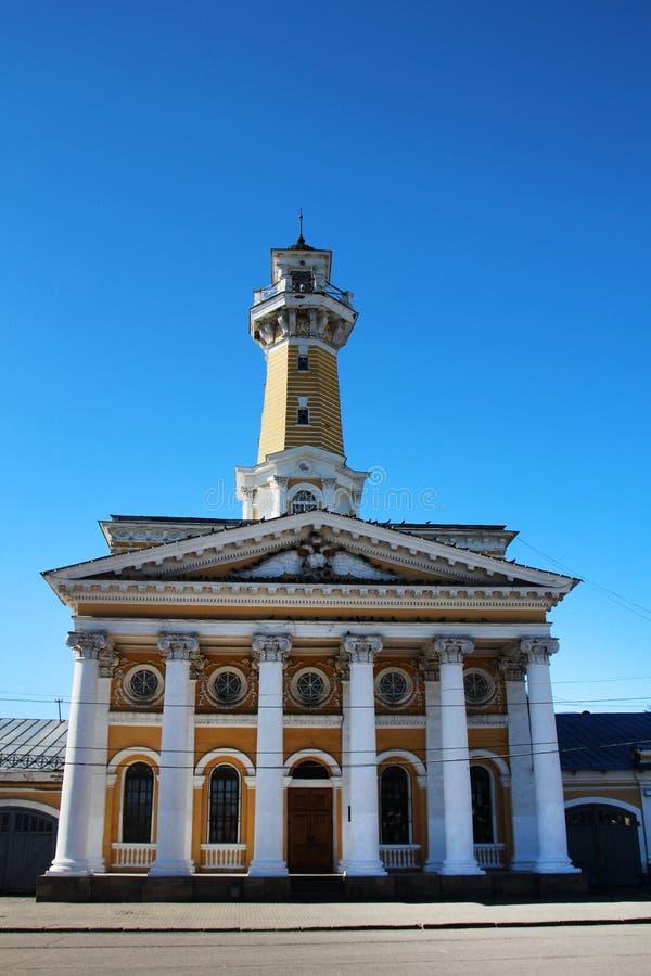 сторожевая башня Огн-замечания в Kostroma стоковая фотография rf
